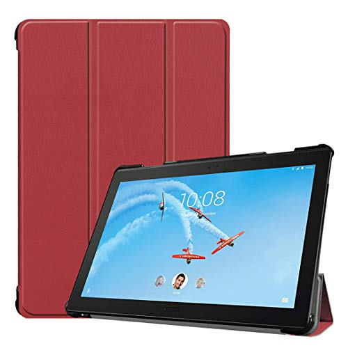 Hfly Compatible with Lenovo Tab P10 TB-X705F/N Case (10.1'), Lightweight Book-Style Cover with Fold Stand Shockproof Case Shell for Lenovo Tab P10 Gray