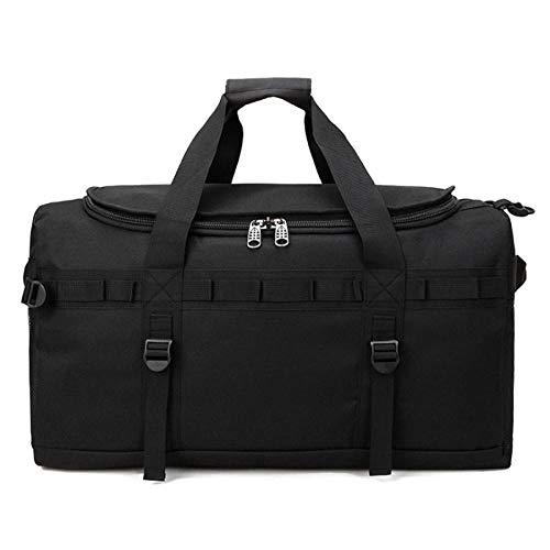 Fslt 60L Men's Travel Suitcase Luggage Backpack Multifunctional Luggage Handbag Large Casual Weekend Shoulder Handbag Black