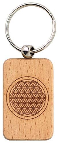 Schlüsselanhänger Blume des Lebens · Beidseitig graviert · Schlüsselanhänger aus Holz · Blume des Lebens · Spirituelle Geschenke · Esoterik Geschenke · Schlüsselanhänger mit Gravur