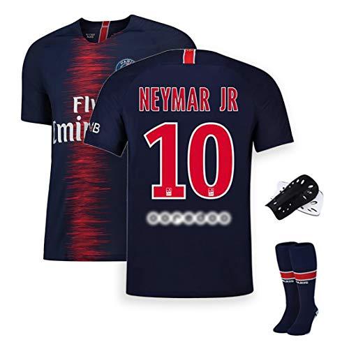 HQAZ Fußball-Sportbekleidung, Nr. 10 Neymar Di María Mbappé, Pariser Fußballmannschaft Trainingsanzug Herrenanzug, kann wiederholt gewaschen Werden, Fans Gedenk-Sportbekleidung-No.10-S