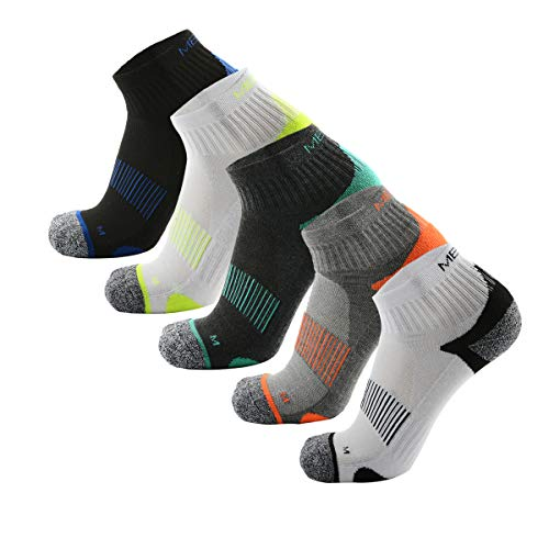 MEIKAN Low Laufsocken, Running Socken für Damen & Herren, 5 Paar Unisex Sneaker Sportsocken (Multicolor, EU44-47/(UK9-11))