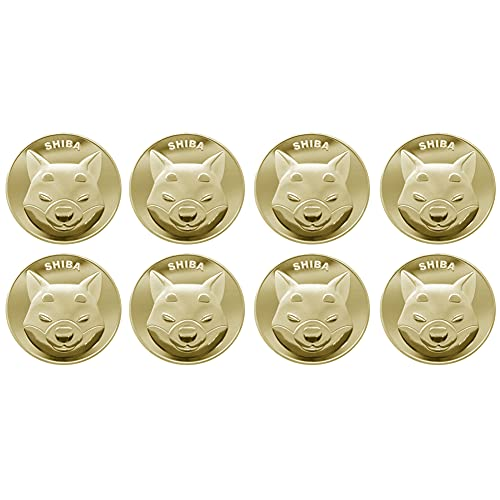 Dogecoin,8PCS Sammlermünzen vergoldete Doge-Münzen Commemorative 2021 Neue Sammler Gold Plated Doge Coins Nicht-Währung Münze Echt-Gold überzogen für die verlorenen Scherzartikel Geschenkparty-Spiel
