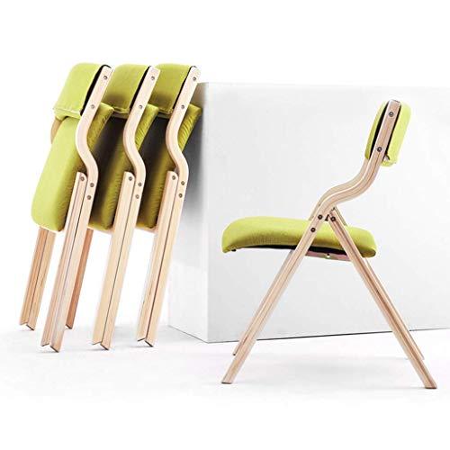 BAR Home Stuhl Hocker Klappstuhl Klappstuhl Massivholz mit bequemer Rückenlehne Lounge-Stühle für Esszimmer Küche Wohnzimmer Büro,Grau,