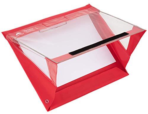 Paperdry Red Letter Landscape Waterproof Clipboard - Premium PVC Material [18-Month Warranty] (Letter Landscape)