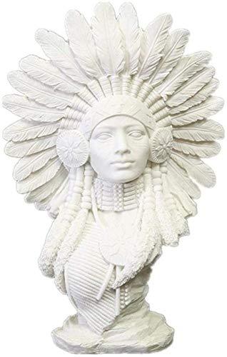KUPR Estatuas para jardín Escultura de Personaje Estatua Escultura de artículo Decorativo Piedra Arenisca Figura de Mujer India Personaje Creativo Decoración del hogar