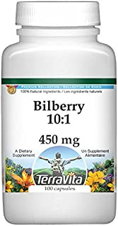 Bilberry 10:1-450 mg (100 Capsules, ZIN: 519177) - 2 Pack