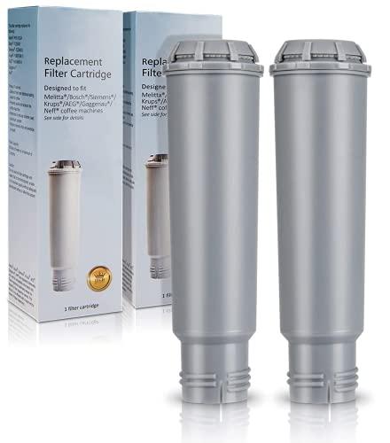 Coffee Machine Filter 'Claris' (F088 | F08801) for KRUPS | Melitta PRO Aqua | Siemens | Bosch | AEG | GAGGENAU | NIVONA NIRF-700 | NEFF Coffee Machine Series Compatible | 2 Pack |
