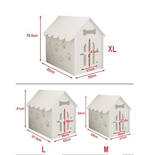 BJL Hundehütte, Haustier Nest Katzenstreu Indoor und Outdoor Umweltschutz Leicht zu reinigen Sommer Outdoor Wasserdicht (3 Größe) Haustierbett (Size : L)