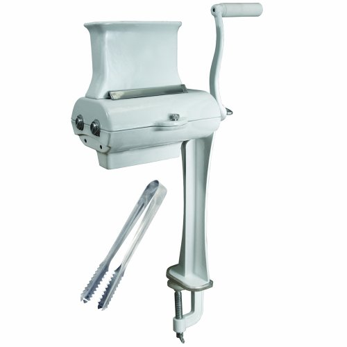 Weston Manual Cuber/Tenderizer (07-4101-W-A), Coated Cast Aluminum Construction, Includes Tongs,White