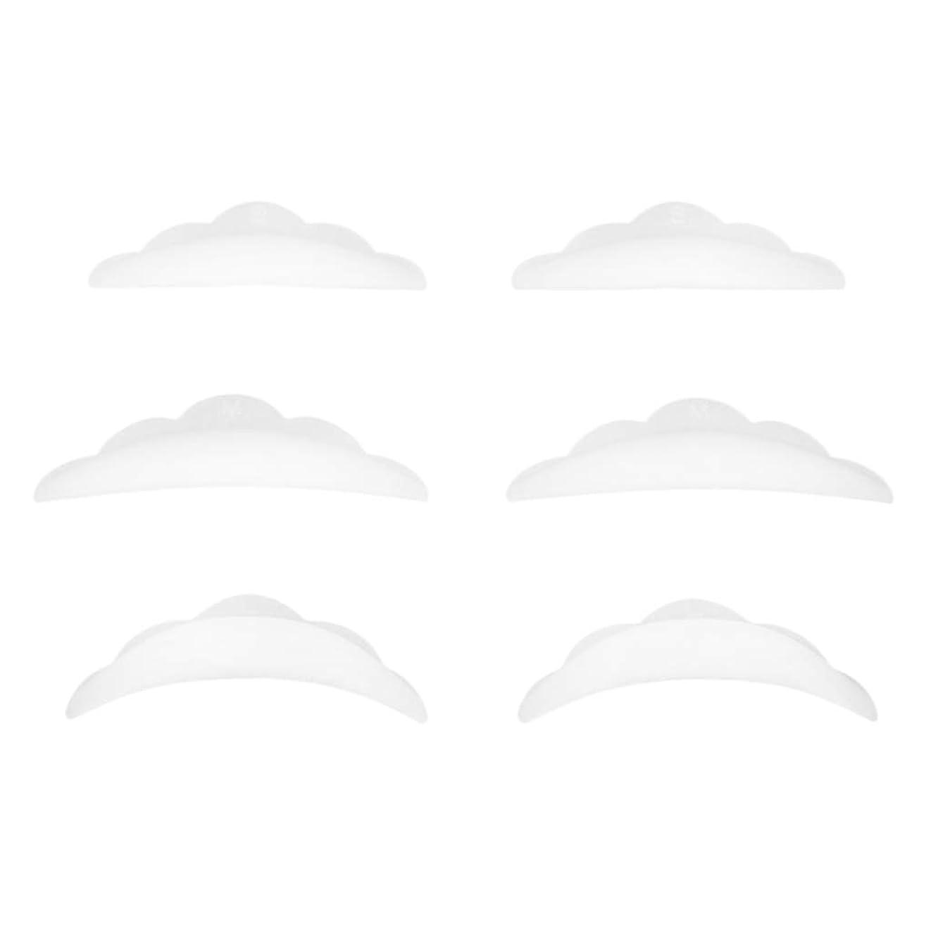通信する線プランターPerfeclan 3ペア まつげパーキングパッド シリコン アイラッシュ リフトパーマ カーラーパッド