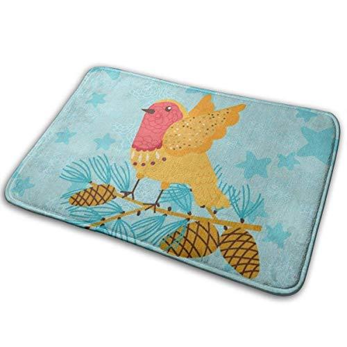 Badteppich Universelle rutschfeste Fußmatten, Begrüßungsmatten für den Außen- und Innenbereich, rechteckige rutschfeste Türvögel Tier 40x60cm