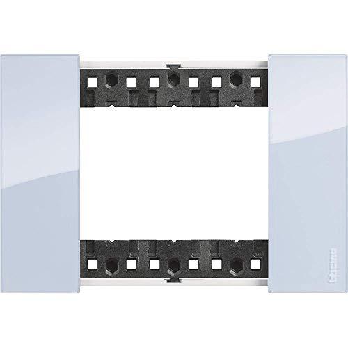 Bticino KA4803DA Living Now - Placca 3 Moduli, Sky, 130 x 50 x 10 cm