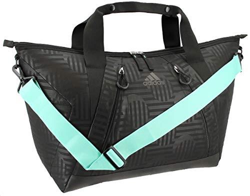 adidas Women's Studio Duffel Bag, Black Dot Punch Emboss/Black/Easy Green, ONE SIZE