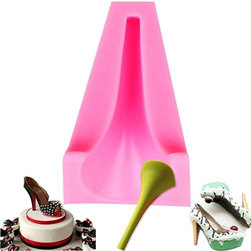 3D-Silikon-Form, High-Heel-Form, Damenschuh - für Hochzeitskuchen, Kuchendekoration, Backwerkzeug