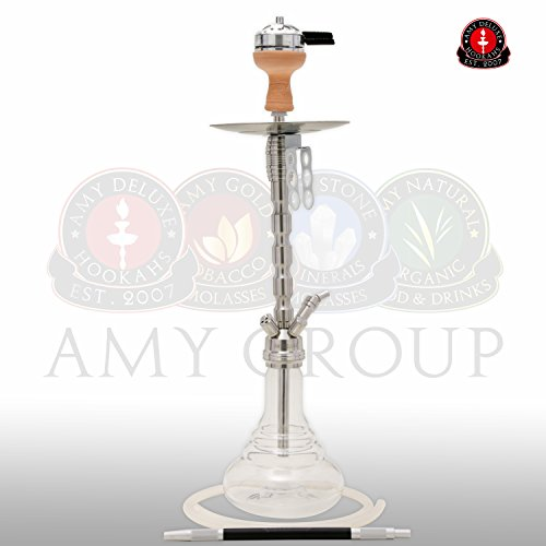 AMY Deluxe STYLE STEEL PLUS SS02* Shisha Wasserpfeife Hookah (Transparent)