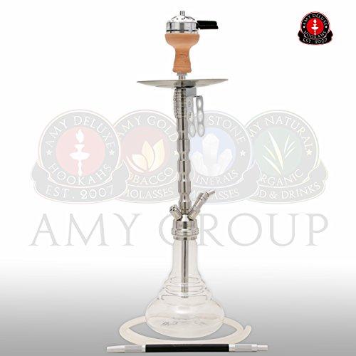 AMY Deluxe STYLE STEEL PLUS SS02* Shisha Wasserpfeife Hookah (Transparent)