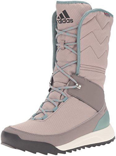 adidas Outdoor Damen CW Choleah High CP Leather Schneestiefel, Vapour Grey/Black/Tech Earth, 40 EU