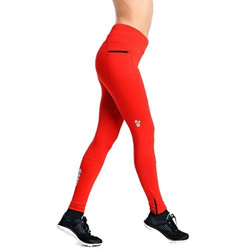 Nessi Collant de Course Pro Total SDP Legging de sport Fitness Pantalon avec poches respirant XL Rouge - Rouge
