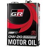 TOYOTA GAZOO Racing トヨタ純正 GR MOTOR OIL Endurance 0W-20 4L エンジンオイル 08880-13505