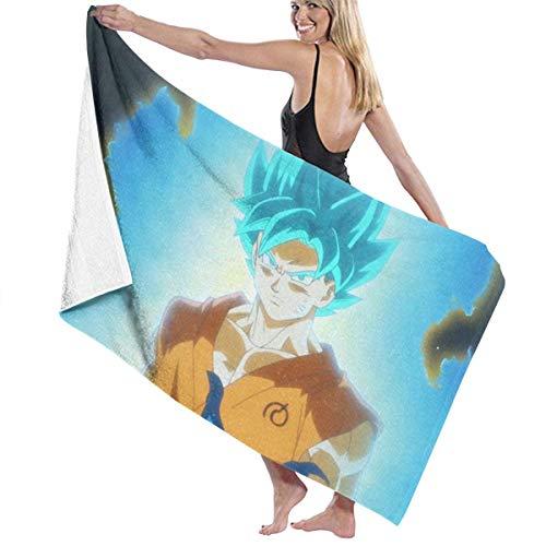 AGSIGGS Dragon Ball Z Goku Toalla de playa de algodón absorbente de microfibra toallas de...