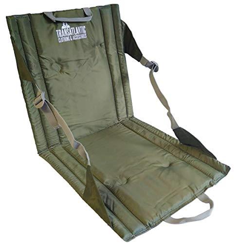 Transatlantic Klappsitz im Freien Leichter, gepolsterter, tragbarer Sitz, ideal für Spaziergänge, Picknicks, Camping, Wandern oder Festivals