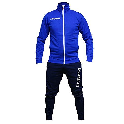 Perseo Sport Tuta Legea California M1141 Uomo Allenamento Fitness Calcio Tempo Libero Vari Colori e TG (L, Azzurro/Blu)