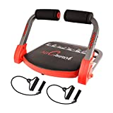 Ab Machine,abs Workout,Abdominal Exercise Equipment with Resistance Bands and Sports Action...