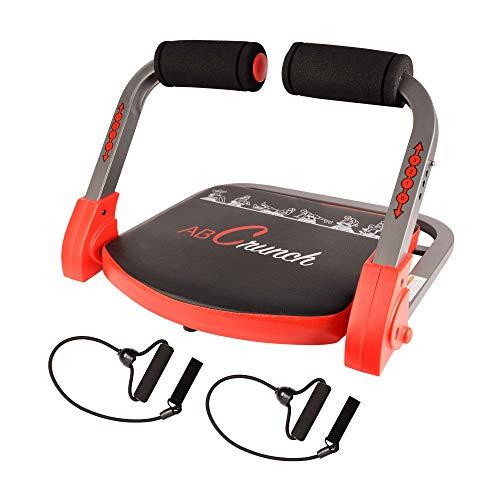 Ab Crunch - Máquina de ejercicios abdominales para ejercicios físicos, musculares pectorales, bíceps para construcción, equipo de ejercicios con bandas de resistencia, guía de ejercicios