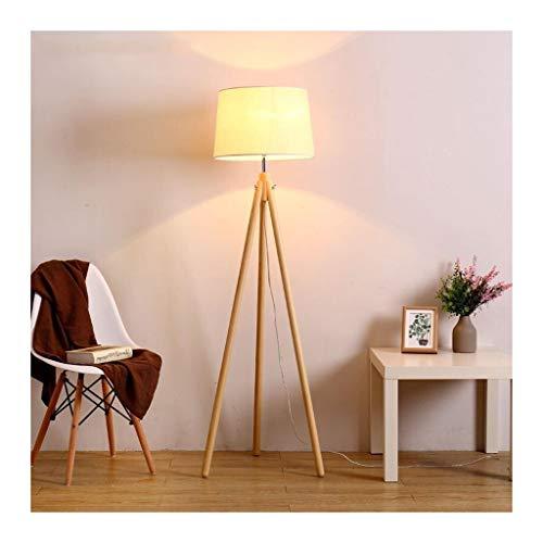 ZGP-LED Luces de Piso Madera Sólida Lámpara de Vida sofá Dormitorio de Noche Estudio lámpara Moderna Minimalista Vertical de Tres piernas Creativo Lámpara de pie Nivel de energía [A ++]