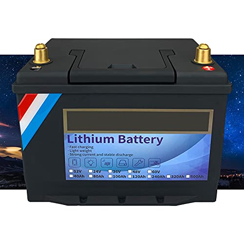 Lifepo4 Batería de Ciclo Profundo, 12 V, 240 Ah, Fosfato de Hierro y Litio, BMS Incorporado, Carga rápida, RV, Solar, Almacenamiento en el hogar y Fuera de la Red,12V240Ah