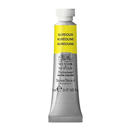 Winsor & Newton Professional Water Colour Paint, 5ml tube, Aureolin