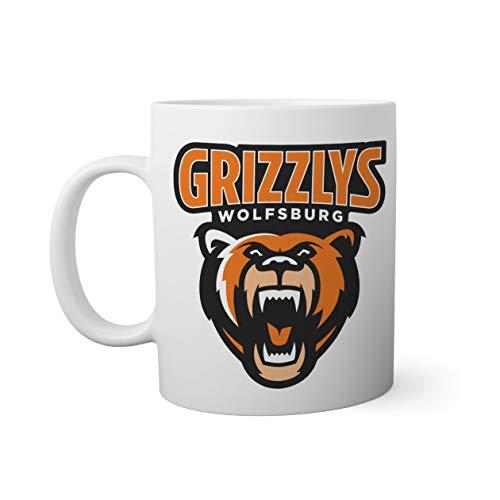 Ice Hockey Team Grizzlys Wolfsburg Eishockey Weißer Becher Mug 330ml