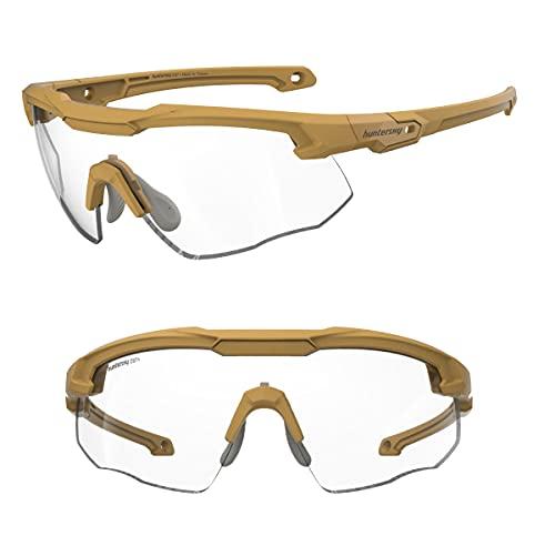 HUNTERSKY Shooting Range Glasses mil-prf-31013 mil-prf-32432 shooter glasses with gun range glasses men Ballistic Impact Protection
