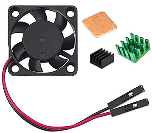 Easycargo Raspberry Pi Ventilador Disipador Calor para Enfriar Raspberry Pi 3B +, 3B, Pi 2, Pi Modelo B + (Verde 1-Pack)