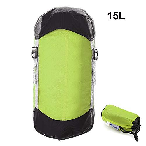 Générique Sac de Couchage de Compression Ultra léger avec Cordon de Serrage pour randonnée, Camping, Nemo (Couleur : Gris Clair)