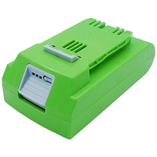 MicroBattery Battery for Greenworks 48Wh Li-ion 24V 2000mAh, MBXPT-BA0205 (48Wh Li-ion 24V 2000mAh Green, 10-Inch Cordless Chainsaw 2036, 130MPH Cordless G24 Sweeper, 20-Inch)