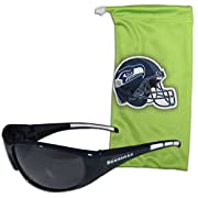 Officially licensed NFL product Our most popular sunglasses with a microfiber bag Sunglasses feature maximum UVA/UVB protection Drawstring microfiber bag for storage and the bag can be used as a cleaning cloth Both pieces feature the Seattle Seahawks...