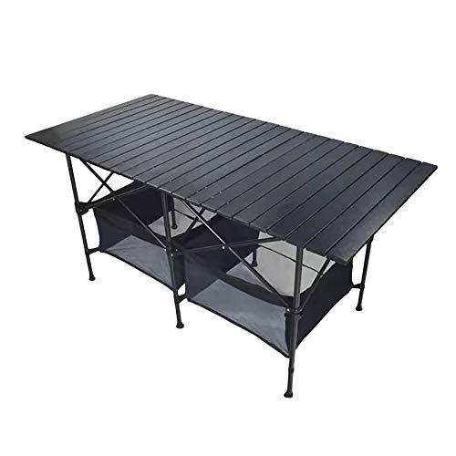 ASWT-Mesa Plegable Multifuncional Imitación, Mesa de Camping Mesa Plegable Mesa de Jardín...