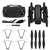 NATRUSS Professional High Definition RC Drone, RC Drone Quadcopter Folding Drone, D58 Folding Altitude Hold for Remote Control(Optical Flow 4K HD)