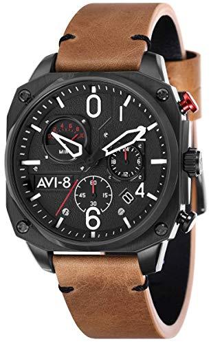 AVI-8 Reloj Hawker Hunter para hombre - marrón/negro
