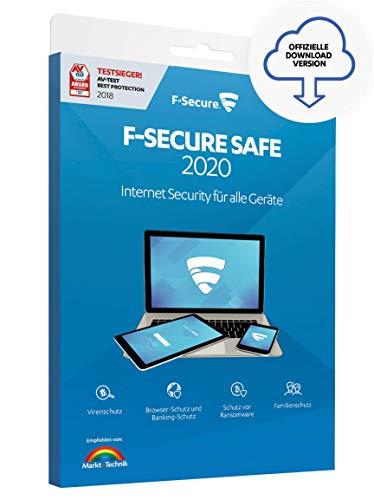 F-Secure SAFE 2020 Internet Security - 1 Jahr / 1 Gerät für Multi-Plattform (PC, Mac, Android und iOS) [Online Code]