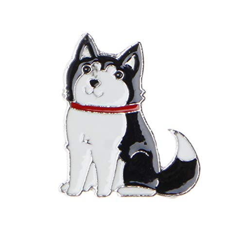 unknows Broches para mujeres, perrito de mascotas Husky Corgi Ji Wawa Perros Esmalte Broches Pins Lindos Amantes de Mascotas Joyería, Esmalte y aleación.,