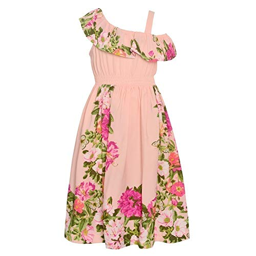 Bonnie Jean Girl's Pink Hawaiian Dress for Little and Big Girls (6)