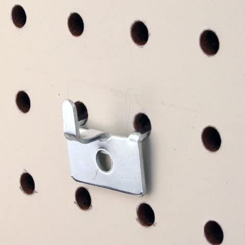 Pegboard Utility Notch Hook - Picture Hanger for Slatwall & Peg Wall - 50 Pack