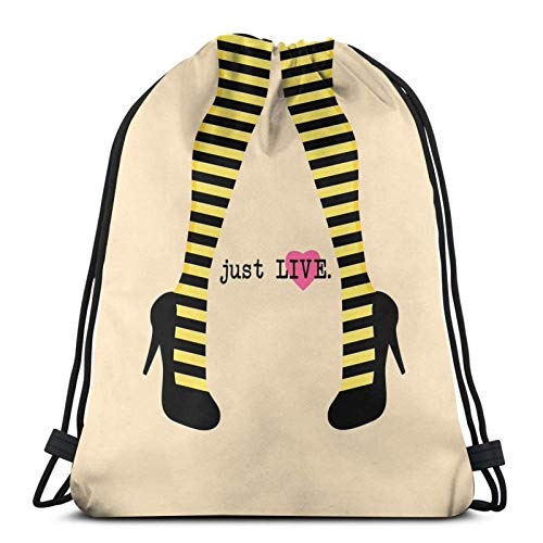 Me Before You - Just Live Sport Sackpack Sac à Dos avec Cordon de Serrage Sac de Sport