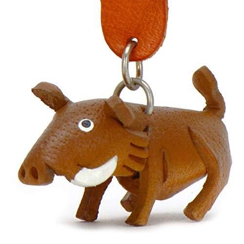 Jabalí Werner–Pequeño Jabalí de llaves colgante de piel, una idea de regalo para mujeres y hombres en Cerdos de accesorios, Piglet, cerdo, Sau, pegamento,