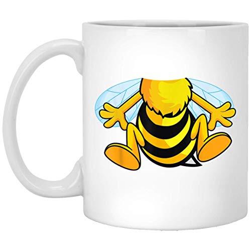 Grappige Bee Kostuum Gemakkelijk - Honingbij Halloween goedkoop cadeau 11 oz. Witte mok