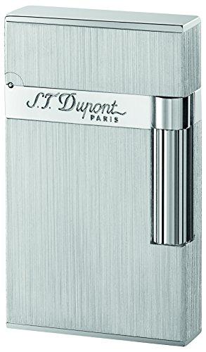 St. Dupont Briquet Rechargeable - Allume Bougie - Briquet Gaz - Briquet électronique Gaz - Allume Cigare - Tempête - Briquet Ligne 2 - Finition Palladium brossé