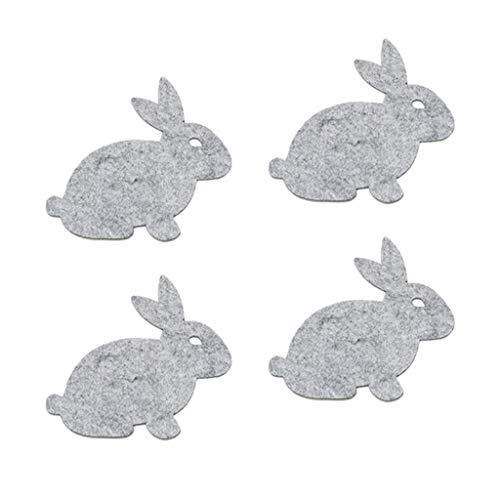 MagiDeal 4X Conejo de Pascua Tapete de Cojín Tazones