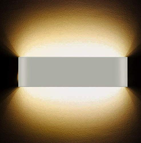 Applique da parete LED 12W Lampada da parete interni ad alta luminosità moderna Lampada da parete per hallway hotel luci, luce bianca calda